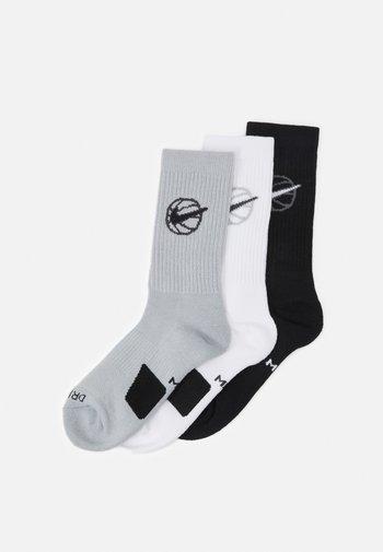 EVERYDAY CREW 3 PACK - Sports socks - black/white/grey