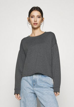 JDYLUCI CROPPED - Sweatshirt - dark grey melange