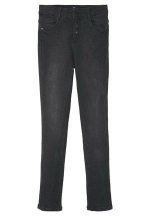 JEANSHOSEN LINLY STRAIGHT JEANS MIT KNOPFVERSCHLUSS - Straight leg jeans - black denim|black