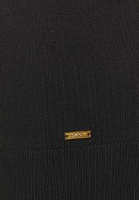 DKNY - FOIL CREW NECK DRESS - Jumper dress - black/silver - 5