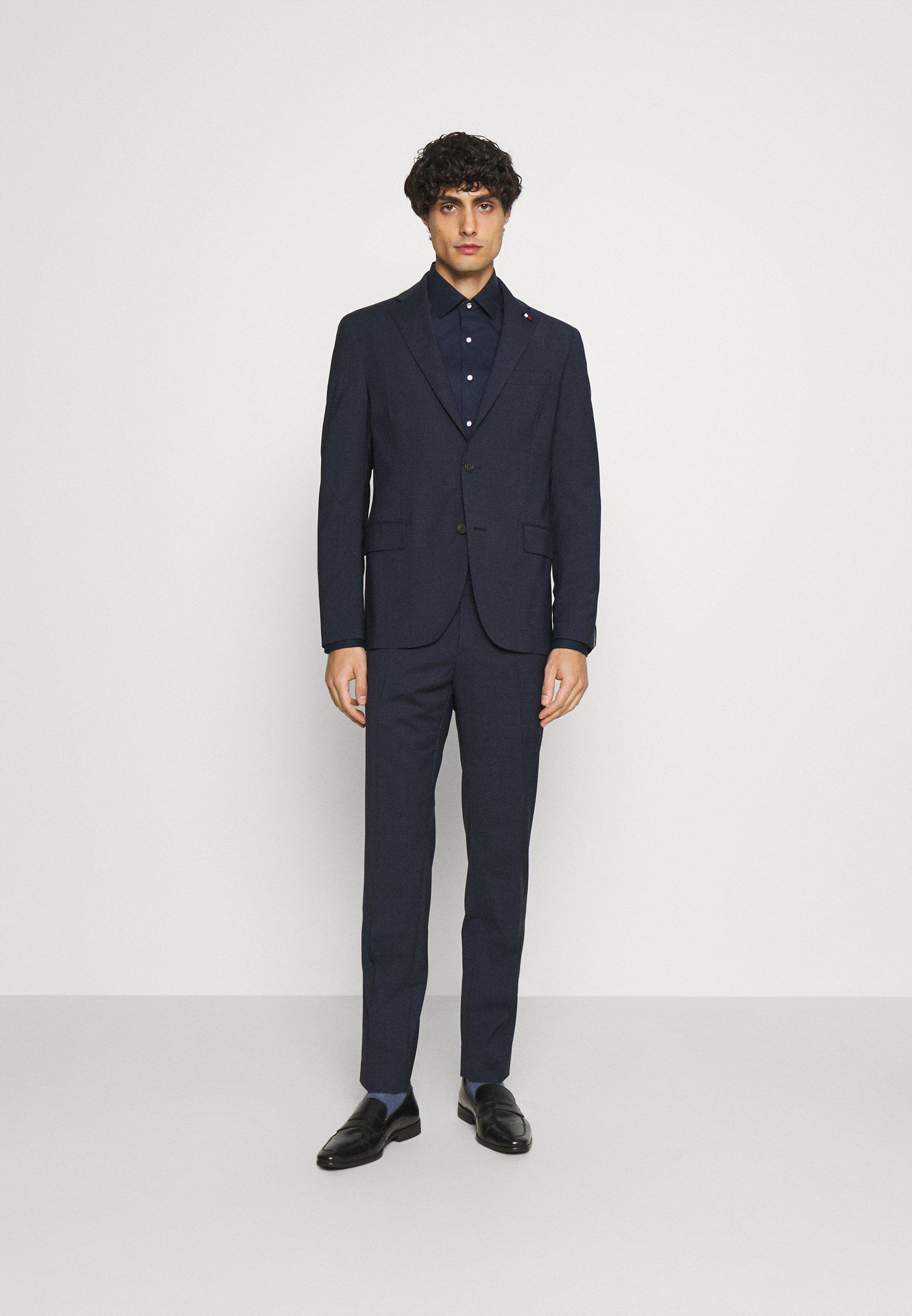 Men FLAP FULLY LINED VENTS FLAT FRONT TROUSER SET - Suit