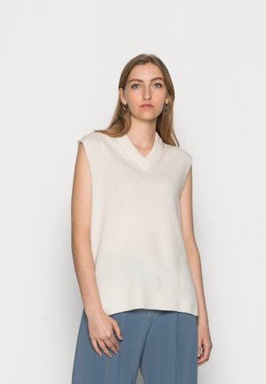AMAR VEST - Strickpullover - whisper white