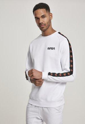 NASA SMALL WORMLOGO EMB ROCKET TAPE  - Sweatshirt - white