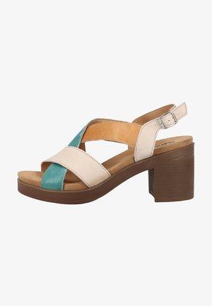 Sandalen met enkelbandjes - avorio