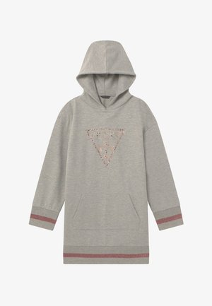 JUNIOR HOODED DRESS - Day dress - light heather grey
