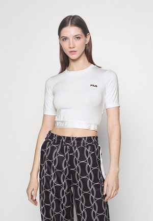 CAYLIN CROPPED TEE - T-shirts basic - bright white
