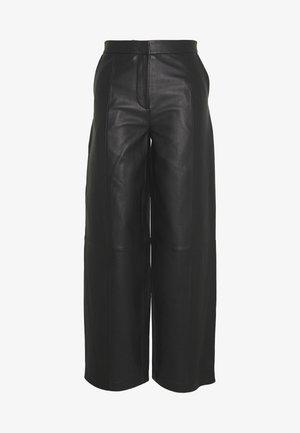 LATOYA - Kožené kalhoty - black