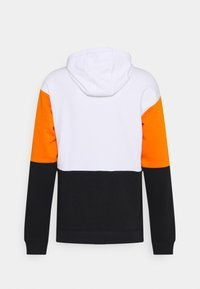 Fila - DAVIS BLOCKED HOODY - Sweatshirt - bright white/black/russet orange - 1
