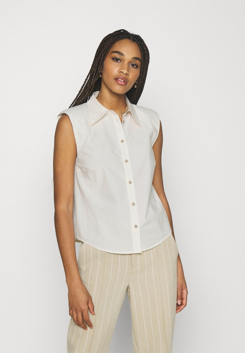 YAS - YASAGANA - Button-down blouse - eggnog