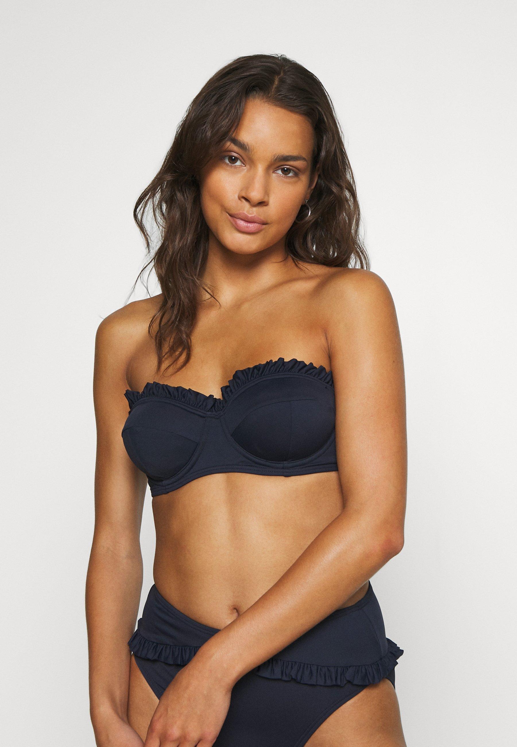Women ICONIC SOLIDS RUFFLED UNDERWIRE  - Bikini top