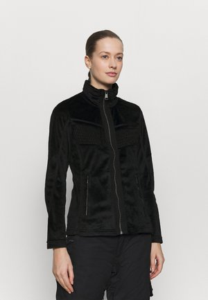 ENGIS - Fleece jacket - black