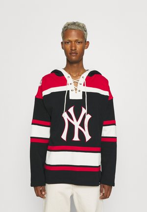NEW YORK YANKEES LACER HOOD - Sweater - jet black