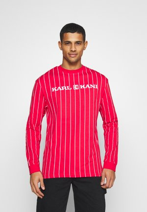 UNISEX RETRO PINSTRIPE  - Long sleeved top - red
