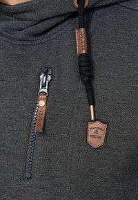 INDICODE JEANS - ELM - Zip-up hoodie - charcoal - 5