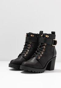 ONLY SHOES - ONLBARBARA BUCKLE LACEUP - Kotníková obuv - black - 4