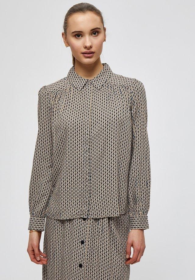 JASMINA  - Camisa - shadow dot steel grey print
