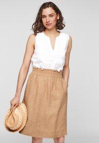 s.Oliver - A-line skirt - desert sand melange - 3