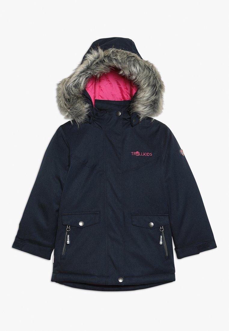 TrollKids - GIRLS OSLO COAT  - Winter coat - navy/magenta