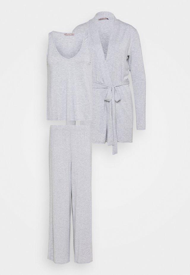 SET - Piżama - mottled light grey