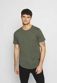 Only & Sons - MATT 7 PACK - Basic T-shirt - light red melange/light grey melange/green melan/anthracite melange/white - 1