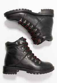Simply Be - WIDE FIT LACE UP BOOT - Veterboots - black - 3