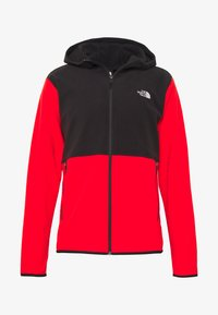 The North Face - MENS GLACIER FULL ZIP HOODIE - Fleecová bunda - fiery red/black - 4