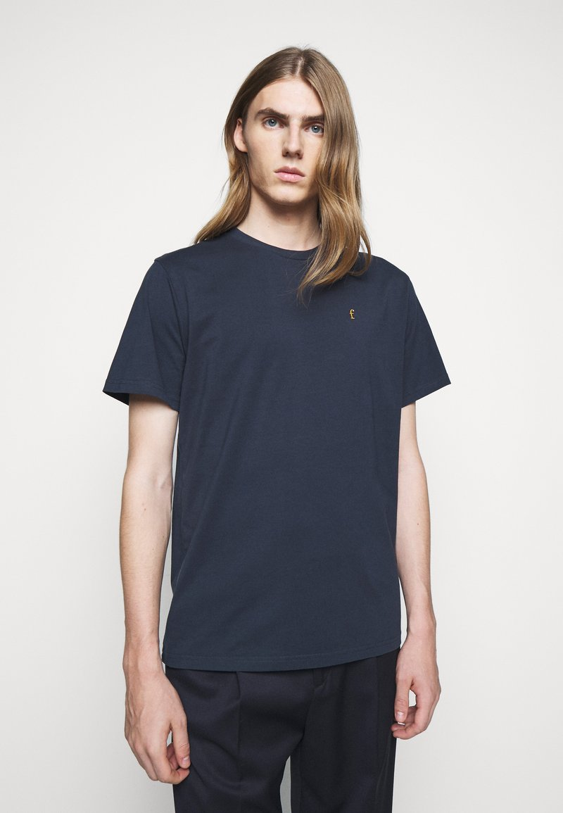 forét - POINT - Print T-shirt - navy