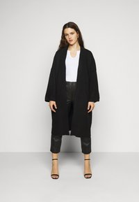Pieces Curve - PCROW COATIGAN - Cardigan - black - 0