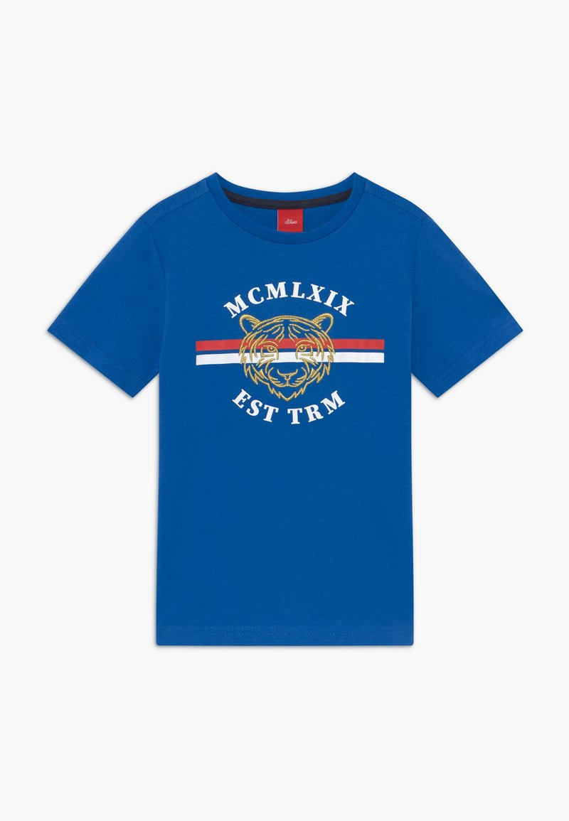 s.Oliver - KURZARM - T-shirt z nadrukiem - blue