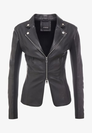 STRAVEDERE GIACCA - Leather jacket - black