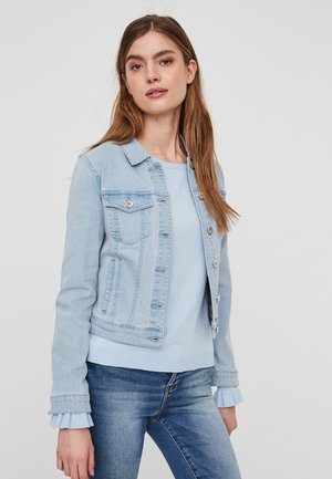 VMHOT SOYA  - Denim jacket - light-blue denim
