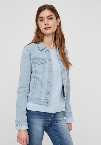 VMHOT SOYA  - Denim jacket - light-blue denim