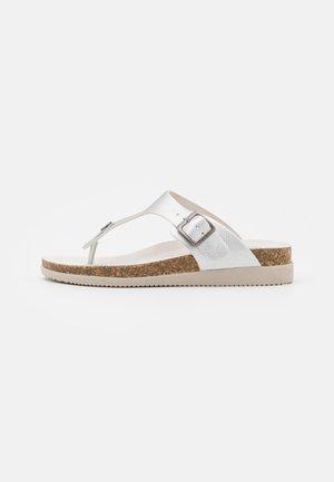 HEDDA THONGS - T-bar sandals - silver