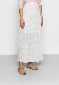 Tommy Hilfiger - ICON PLEATED LONG SKIRT - Maxi sukně - white - 0