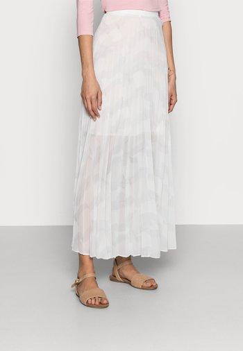 ICON PLEATED LONG SKIRT - Maxi sukně - white