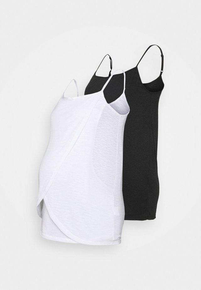NURSING WRAP CAMI 2 PACK - Top - black/white