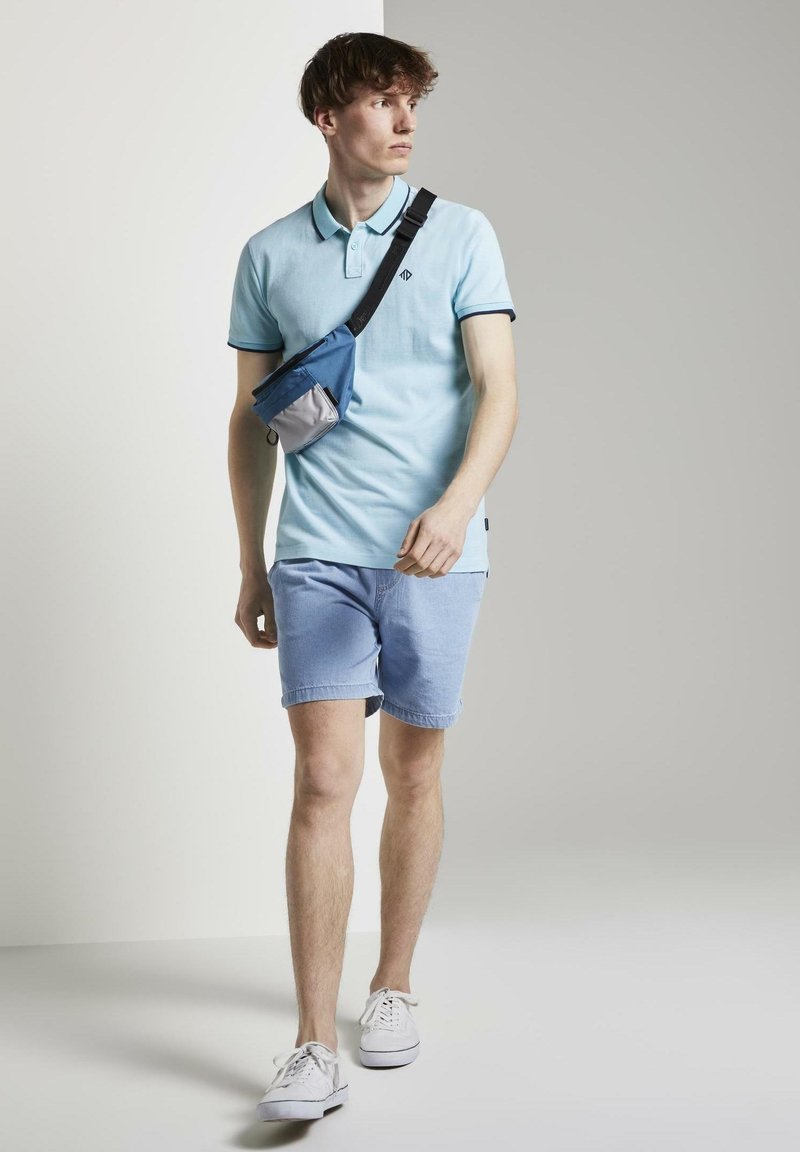 TOM TAILOR DENIM - Polo shirt - soft sky blue melange