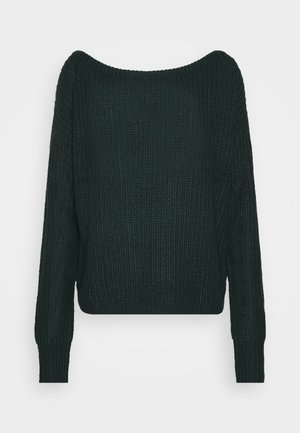 OPHELITA OFF SHOULDER JUMPER - Pullover - forest green