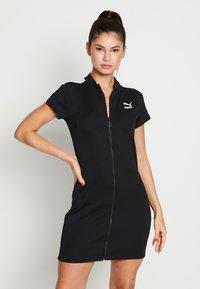 Puma - CLASSICS TIGHT DRESS - Day dress - black - 0