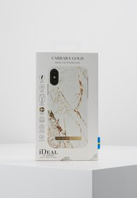 iDeal of Sweden - FASHION CASE IPHONE X/XS MARBLE - Phone case - carrara/gold-coloured - 5