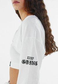 Bershka - Long sleeved top - white - 3