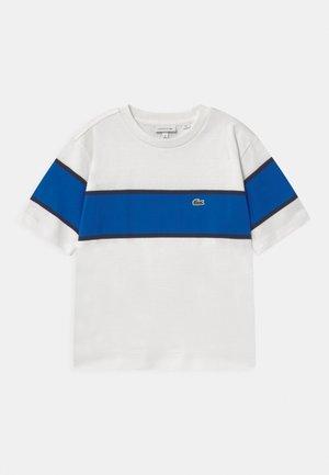 Print T-shirt - flour/lazuli/navy blue