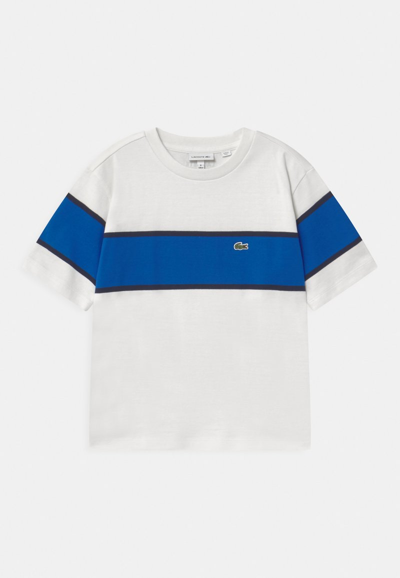 Lacoste - T-shirts print - flour/lazuli/navy blue