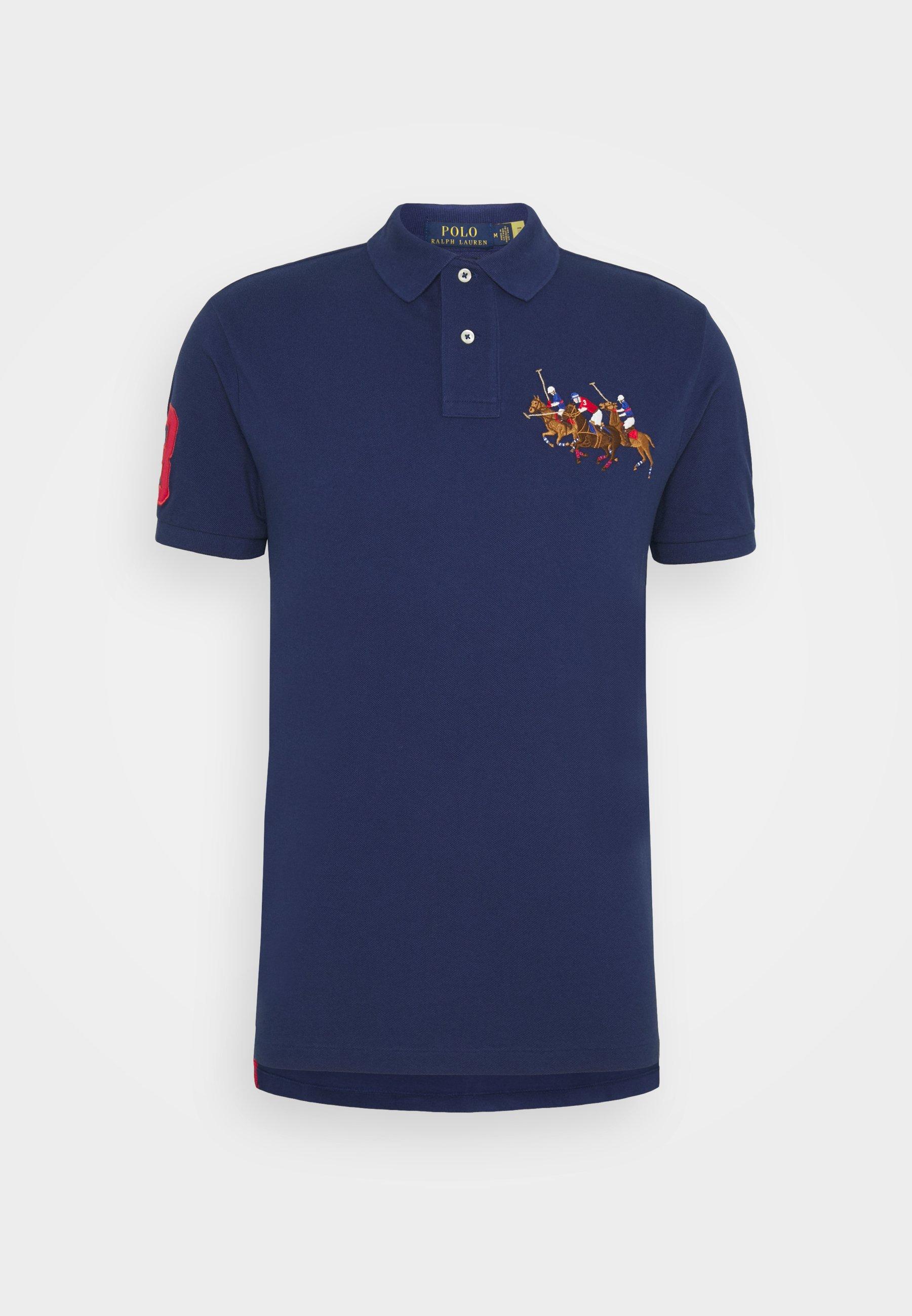 Men CUSTOM SLIM FIT TRIPLE-PONY POLO SHIRT - Polo shirt