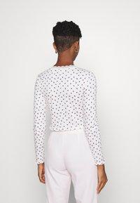 NEW girl ORDER - POINTELLE - Long sleeved top - purple/cream - 2