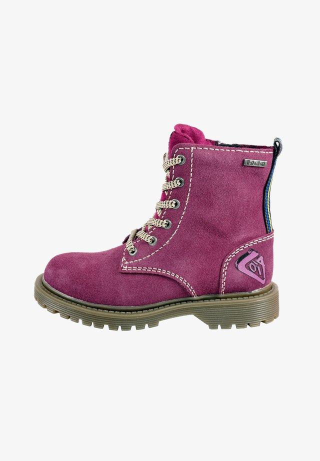 Cowboy/Biker boots - ambergine