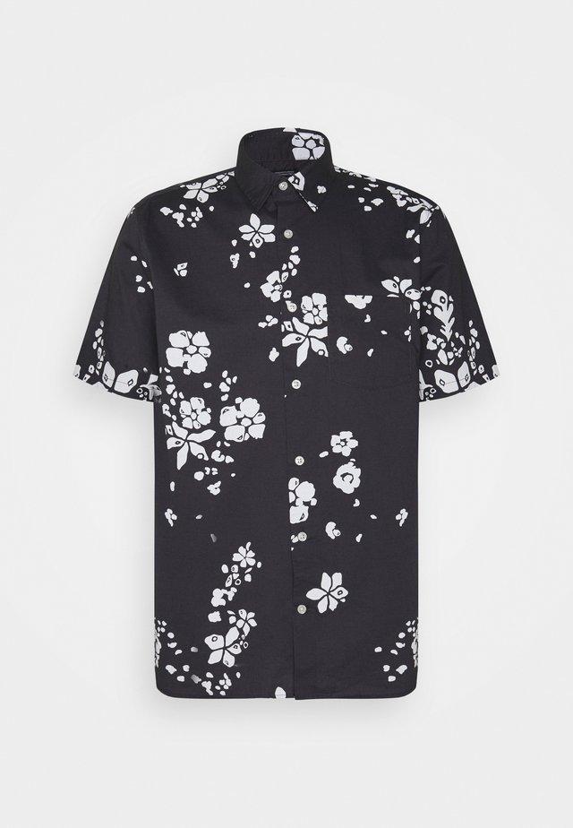 Shirt - navy floral