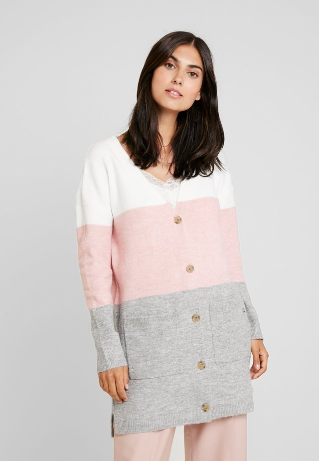 COZY COLORBLOCK - Kofta - rose