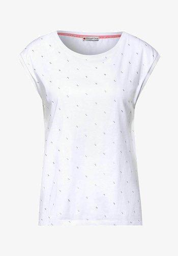 MINIMAL - Print T-shirt - weiß
