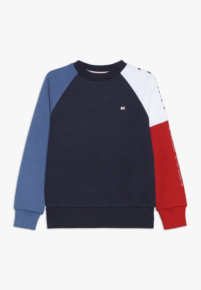 SPORT COLORBLOCK CREW - Sweatshirt - black iris
